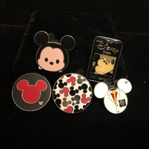 Lot of 5 Disney Mickey Pins